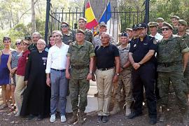 El Ejército español homenajea a los soldados galos cautivos en Cabrera