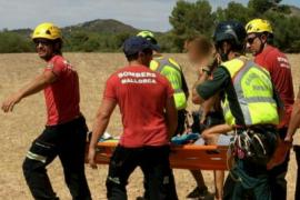 Los Bombers evacuan a un excursionista y un escalador heridos en el camí dels Pintors y Cala Magraner