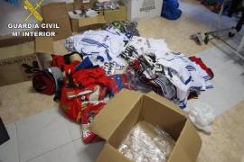 Un detenido en Cala Rajada por falsificar artículos por valor de 55.000 euros