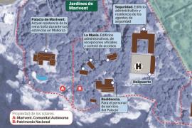 El Govern dejará de limpiar las parcelas de Marivent que son de Patrimonio Nacional