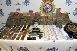 Nueve detenidos y 45 kilos de hachís incautados en la operación en Son Gotleu