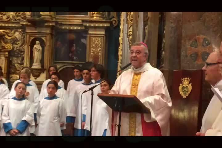 El obispo Taltavull preside su primera homilía en Lluc