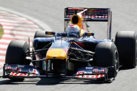 Vettel y Webber en primera fila y Alonso y Kubica en segunda