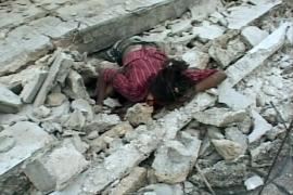 Dolor y muerte entre escombros