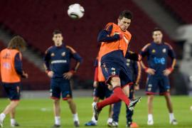 El técnico de la selección prueba con Villa de 9 y sin Llorente