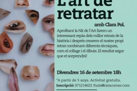 'L'art de retratar', taller familiar en Rata Corner