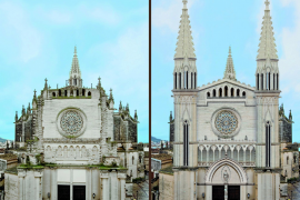 Manacor retoma, 79 años después, las obras inacabadas de la fachada de la iglesia dels Dolors