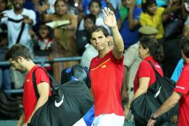 Nadal, tras el partido de Copa Davis «Ha sido complicado, pero hemos jugado bien»