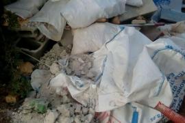 La polícia de Sencelles sorprende a dos personas arrojando escombros de obra