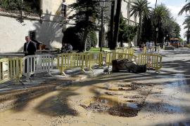 Controlada la fuga de aguas fecales en la zona de sa Llotja y el Passeig Sagrera