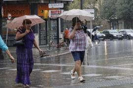Previsión de fuertes tormentas este viernes en Mallorca