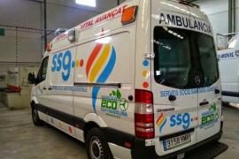 Los trabajadores de ambulancias de SSG amenazan con huelga por los impagos de la empresa