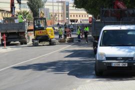 Cortada la calle Llucmajor de Palma por un hundimiento en la calzada