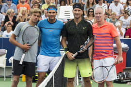 Nadal, McEnroe, Moyá y Solbas deleitan en Manacor a los aficionados al tenis