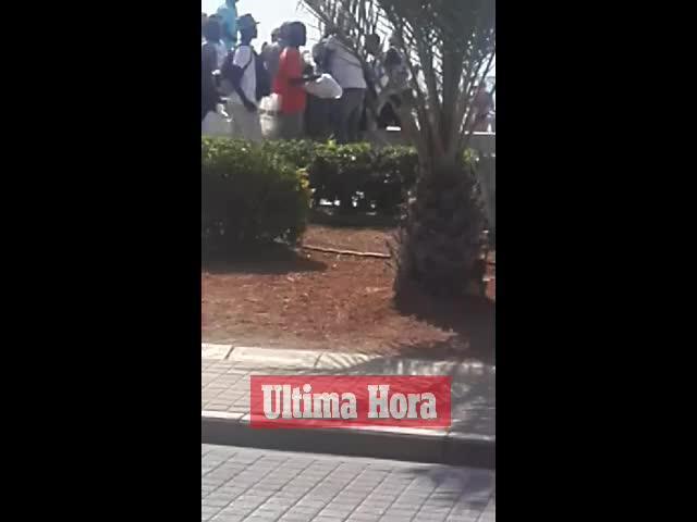 Trifulca en la Platja de Palma entre vendedores ambulantes y Policía Local