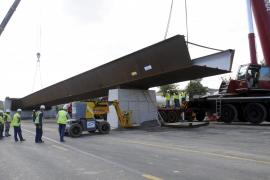 Comienza la instalación del puente que unirá Palma y la carretera de Valldemossa