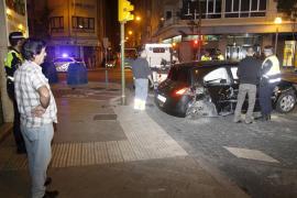 Accidente de tráfico en la vía Argentina