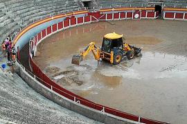 Suspendida la novillada por el mal estado de la plaza de toros tras las lluvias del sábado