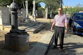 La red de agua del cementerio pierde casi 3.000 litros de agua por hora