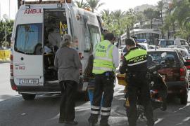 Un niño de seis años, herido al ser atropellado por una moto en el Passeig Marítim de Palma