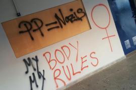 Condenan «las pintadas radicales» aparecidas en el IES Mossen Alcover de Manacor