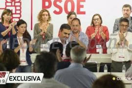Pedro Sánchez, tras dimitir