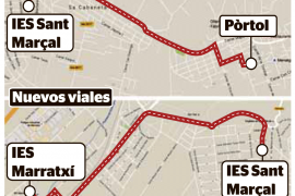 Un carril bici unirá el instituto de Sant Marçal con el de Marratxí
