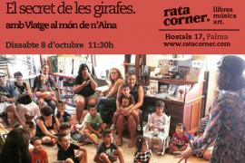 Los 'Viatge al món de n'Aina' desvelan en Rata Corner 'El secret de les girafes'