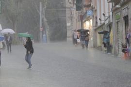 La lluvia continuará en Mallorca durante 10 días