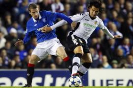 El dominio del Valencia, insuficiente para ganar al Rangers (1-1)