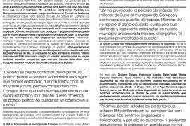 Ginard y los ex militantes de UM en Campos formalizan el acta fundacional del nuevo partido
