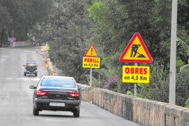 Inician la renovación del firme de parte de la carretera del Puig Major