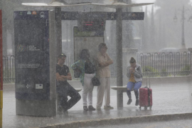 Alerta amarilla este viernes en Balears por las lluvias y el oleaje