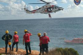 Rescatado en helicóptero un joven tras caer desde 15 metros en Santanyí