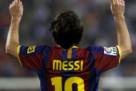 El Barcelona gana con comodidad con dos goles de Messi