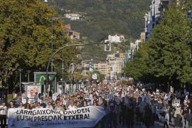 Manifestación a favor de los presos de ETA