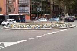 La fuente de la plaza de la Reina de Palma lucirá un colorido mosaico de baldosas de cerámica
