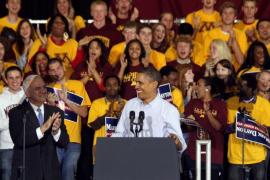Obama reúne a más de 11.000 personas en el cierre de campaña electoral demócrata