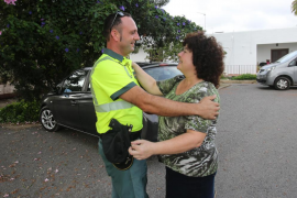 La víctima de la riada conoce al guardia civil que la rescató