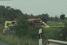 Un accidente colapsa la carretera Manacor-Felanitx