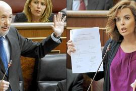 El PP endurece su discurso en el primer choque con Rubalcaba en el Congreso