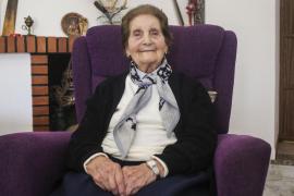 Antonia Guasch cumplirá 100 años el viernes con una excelente salud