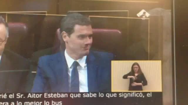 Rivera responde a la intervención de Iglesias con un «vaya gilipollas»