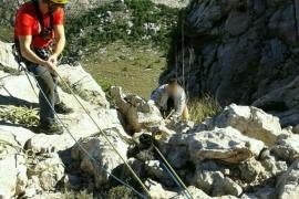 El Grupo de Rescate de Montaña actúa en es Guix y el Puig Major