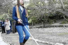 Binifaldó estrena el primer itinerario ambiental para ciegos de las Balears