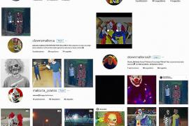 Algunos de los perfiles de 'payasos diabólicos'