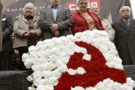 Marcelino Camacho recibe un emotivo homenaje en la Puerta de Alcalá