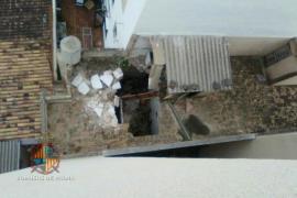 Se derrumba parte de un edificio en Palma