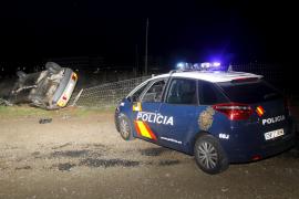 Un conductor que triplicaba la tasa de alcohol se estrella en Son Pardo