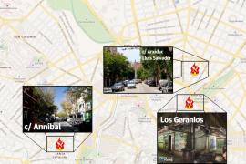 Intensa búsqueda de un pirómano que ha provocado más de ocho incendios en Palma